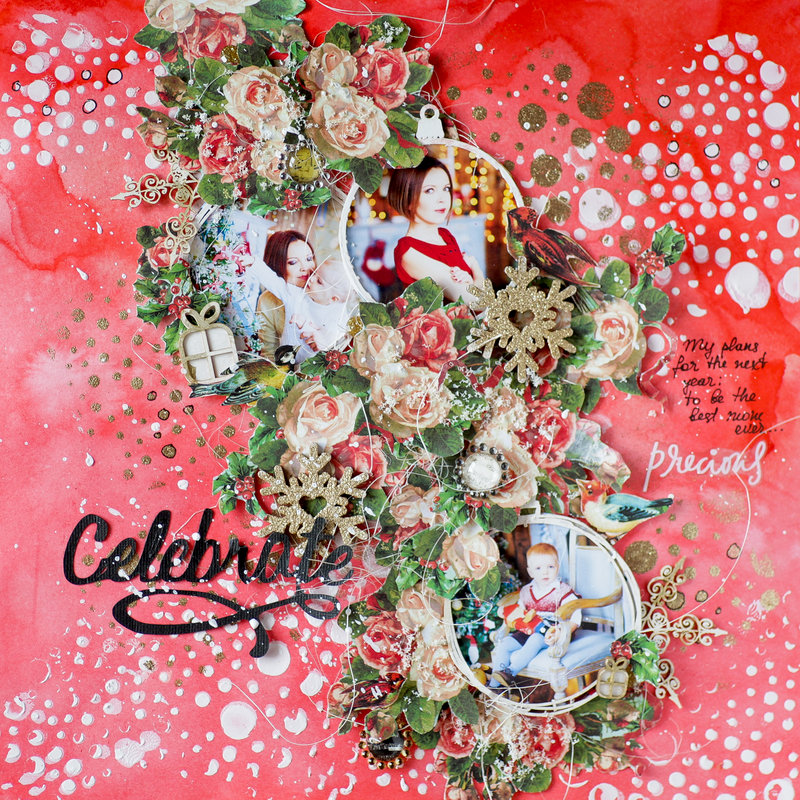 12 days of Christmas layout