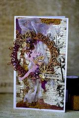Mixed media little fairy card