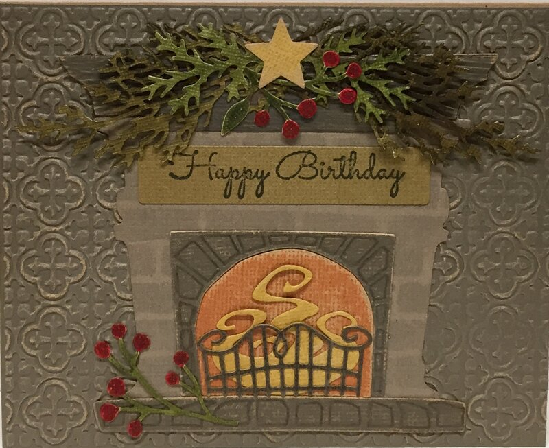 Winter birthday card