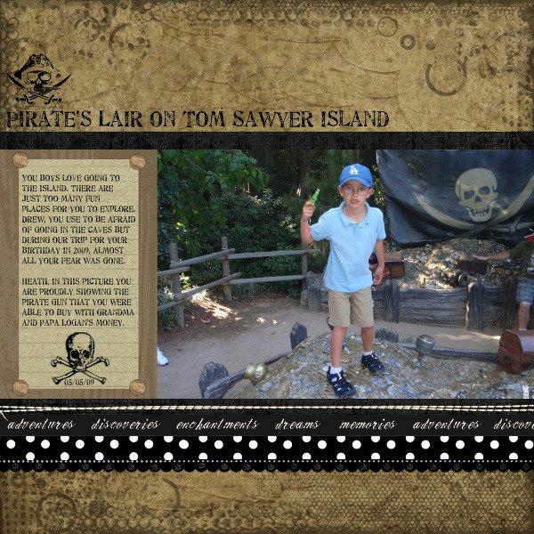 Pirate's Liar on Tom Sawyer's Island