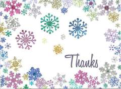 Colorful Snowflake Thank You Card