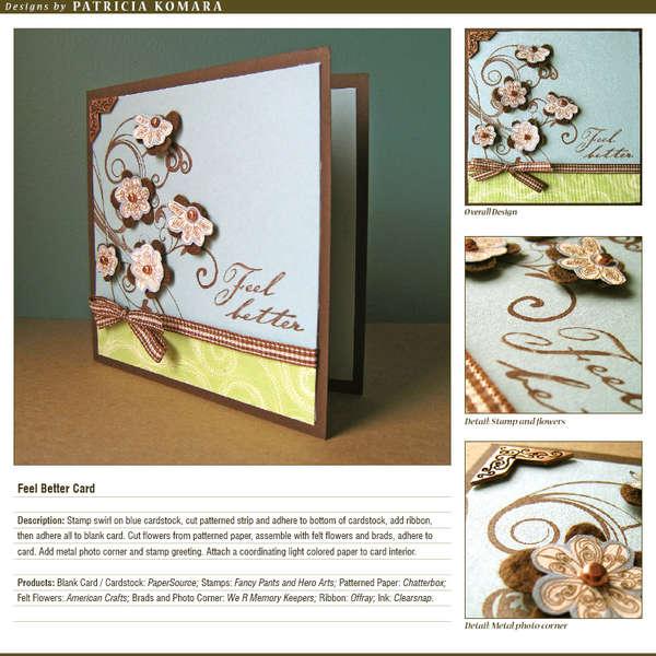 Feel Better Card (Paper Crafts On-Line Bonus Project)