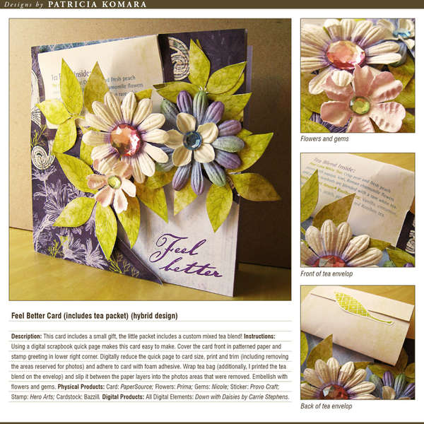 Feel Better (with tea bag) (hybrid design)