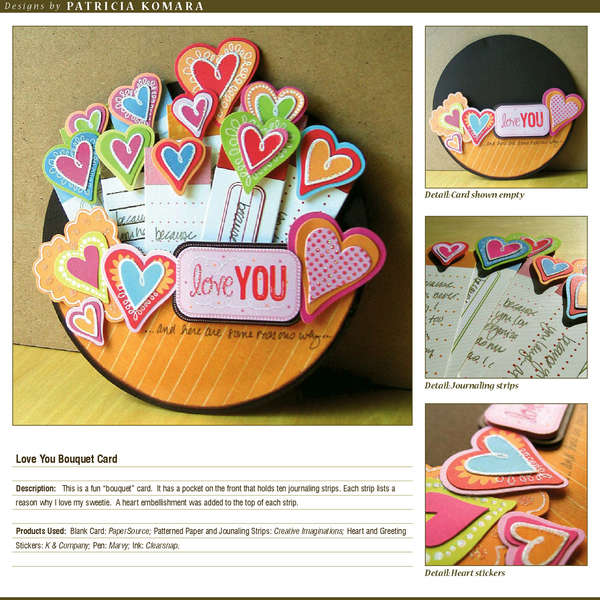 Love you Bouquet Card