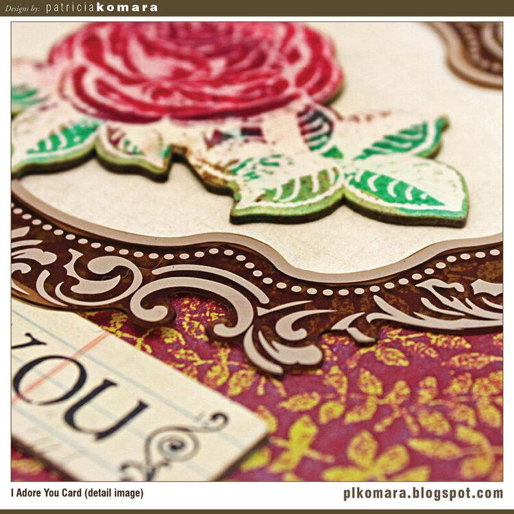 I Adore You Card (detail image)