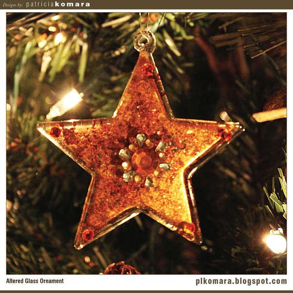 Glass Star Ornament