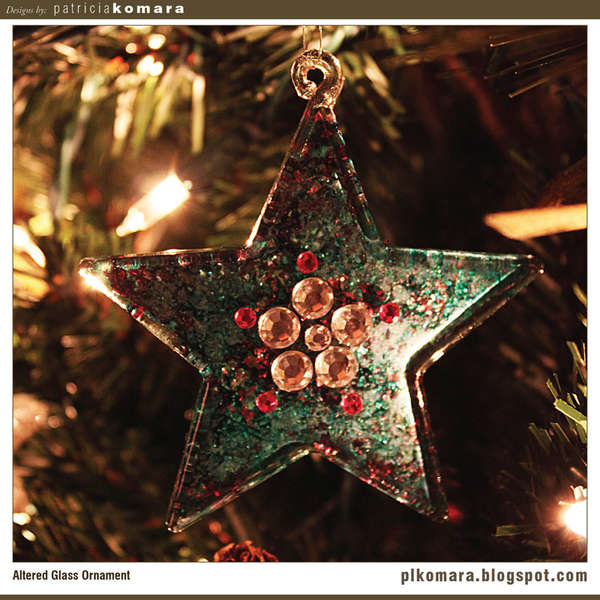 Glass Star Ornament
