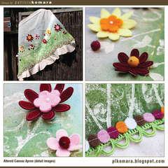 Flower Garden Canvas Apron