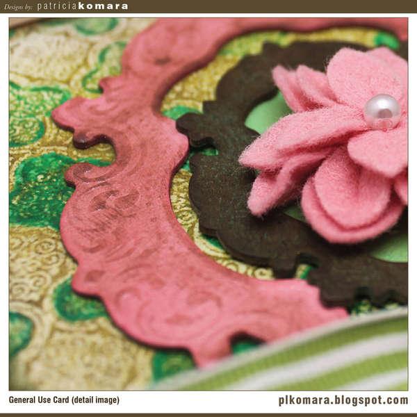 Framed Flower Card (detail image)