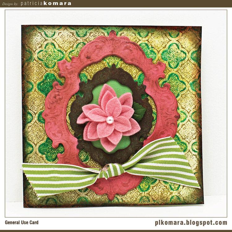 Framed Flower Card