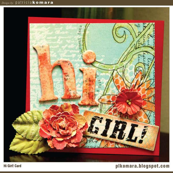 Hi Girl Card