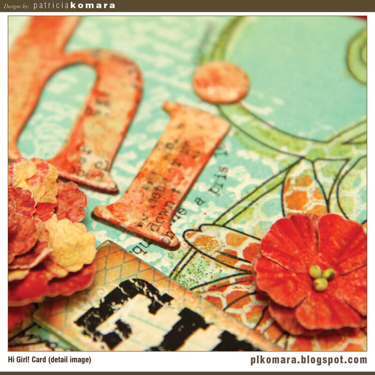 Hi Girl Card (detail image)