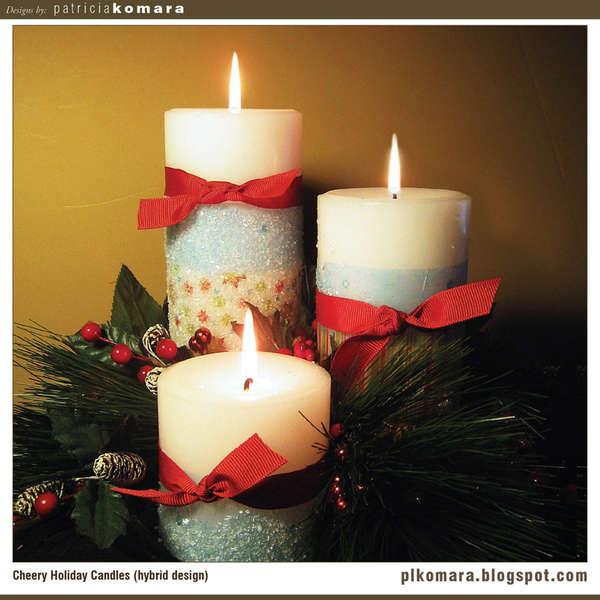 Cheery Holiday Candles