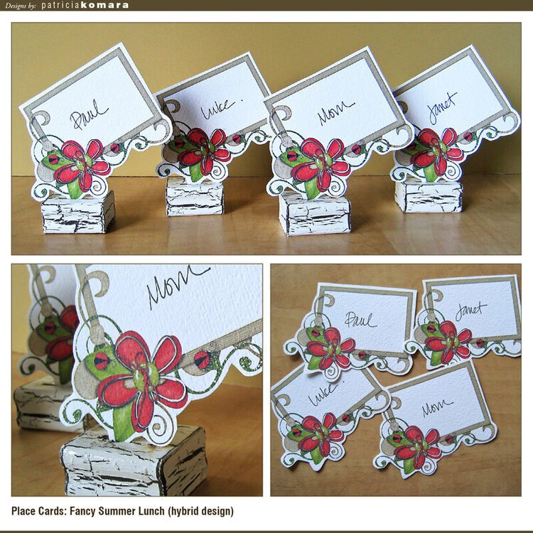 Flower Swirl Place Cards