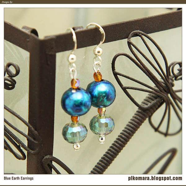 Blue Earth Earrings