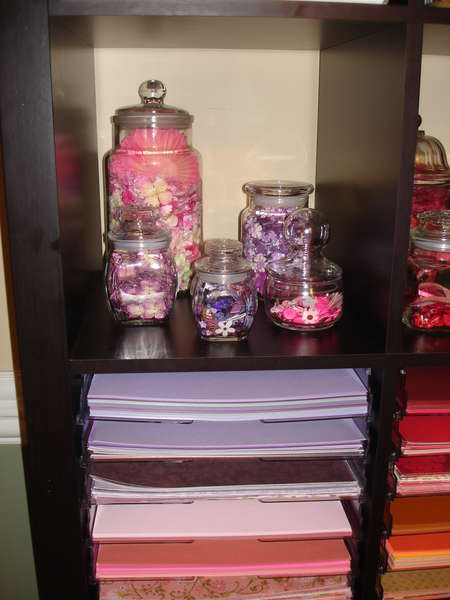 My Pink and Purple Embellies and papers