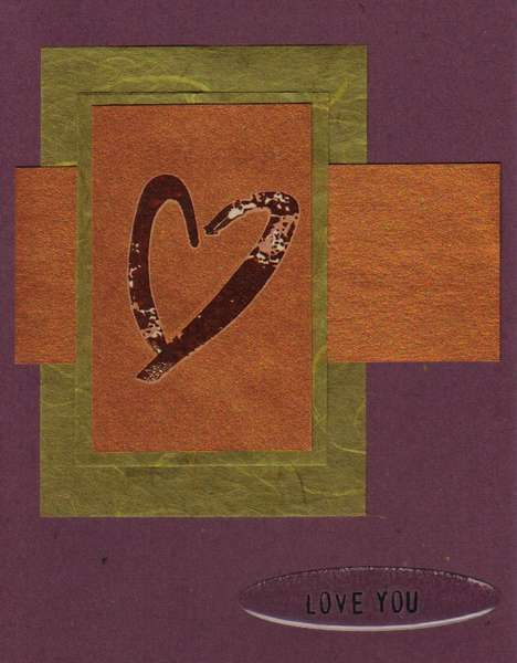 May Card Challenge - Love (color, rub-on, sketch)