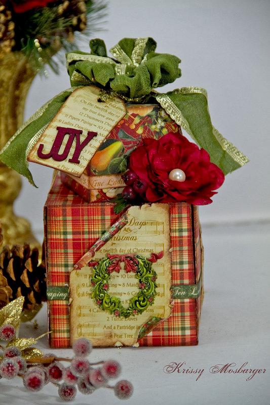 Christmas Gift Boxes *SWIRLYDOOS Scrabook Kits*