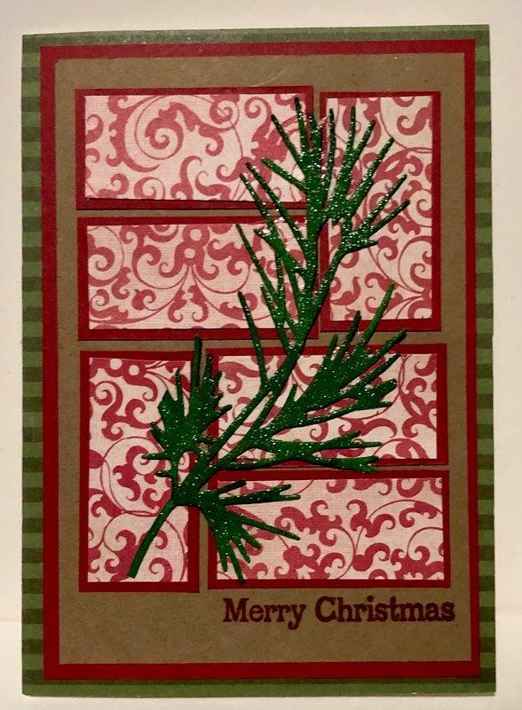 Pine Bough and Flourish Backing Card