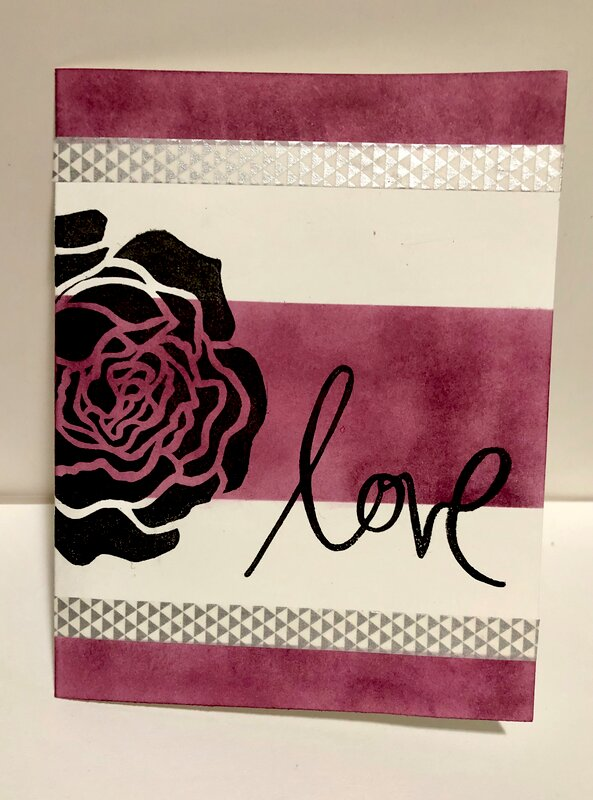 Raspberry Rose Card