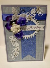Periwinkle Oval Frame Card