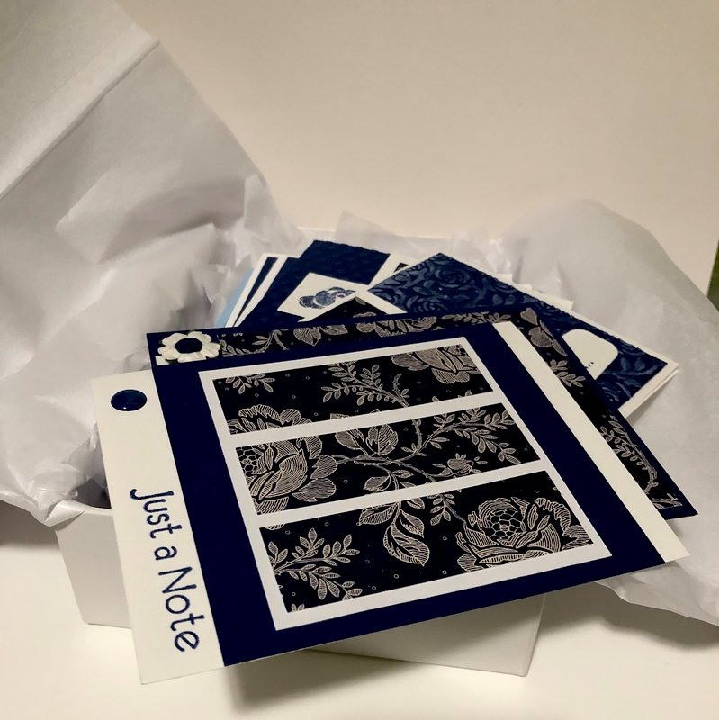 Blue and White OSW Note Card Set