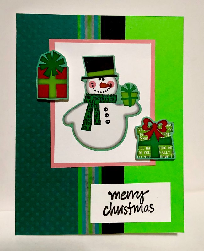 Green and Green Snowman Card