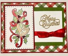 Plaid Christmas Bells Card
