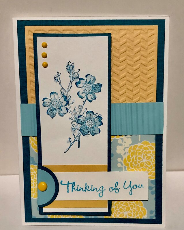 Yellow and Blue Floral Card