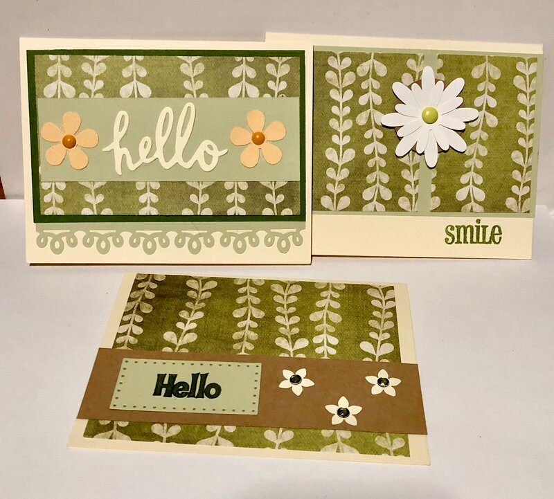 OSW Card Set Climbing Vines Patterned Paper