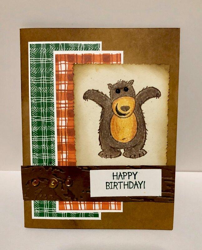 Woodsy Bear Card