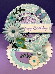 Blue and Purple Easel Card