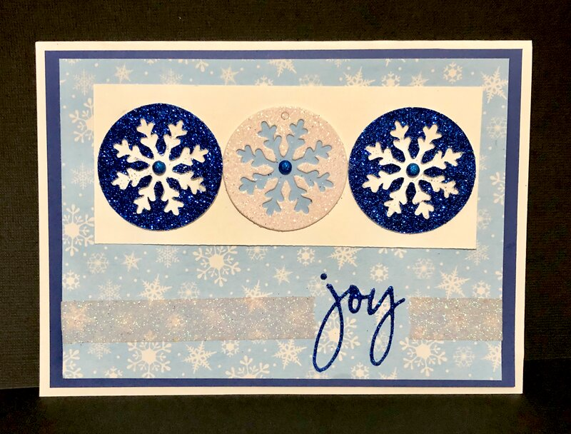 Three Glittery Snowflakes Card