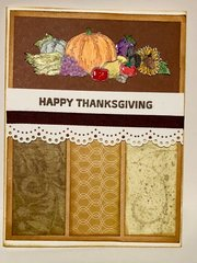 Lace Bird Thanksgiving Card