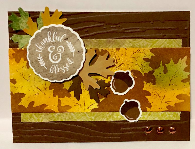 Thankful and Blessed Distress Ink Card