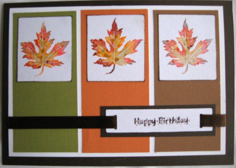 November Card Challenge - Color