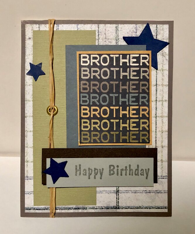 Brother Brother Brother Birthday Card
