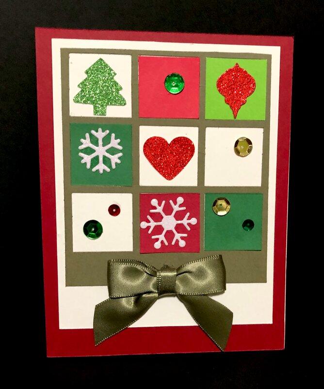 Christmas Grid Card