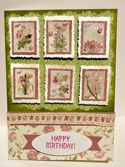 Pink and Green Little Botanicals Card