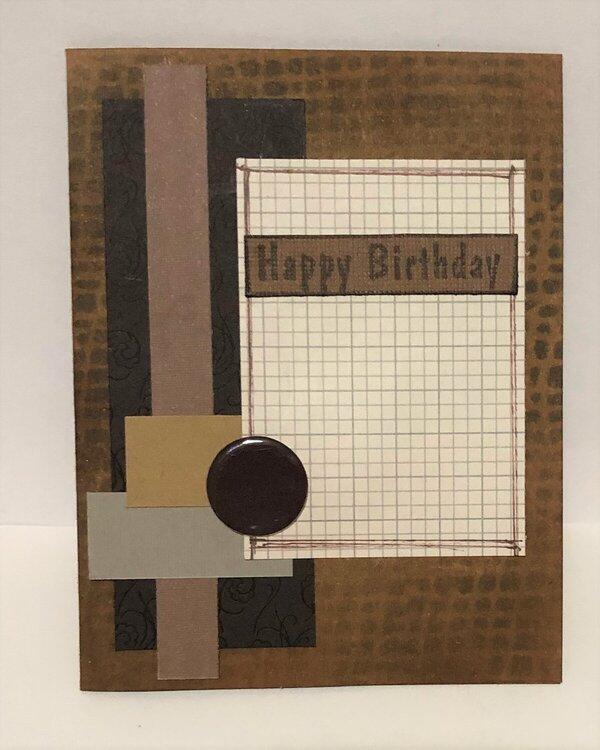 Very Brown Card