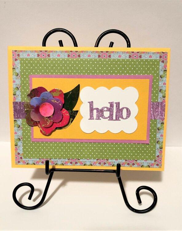 Layered Flower Hello Card