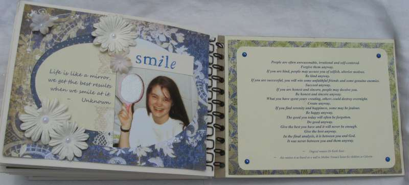 Smile and Mother Theresa Quote Pages