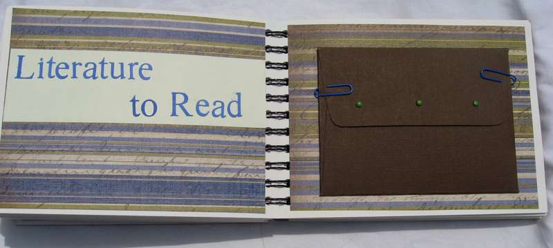 Literature to Read Envelope Pages