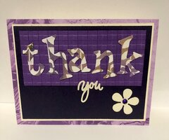 CFK Purple Thank You Card