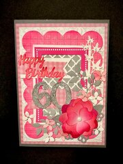 Pink 60th Birthday Card