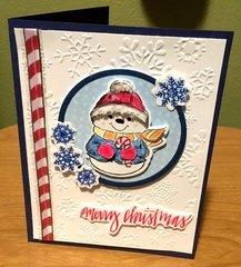 Snowman in Snowflake Circle Card