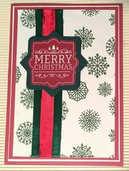 Merry Christmas Strips Card