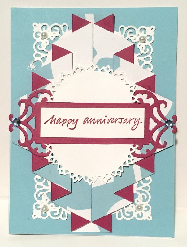 Pink and Blue Double Drapery Card