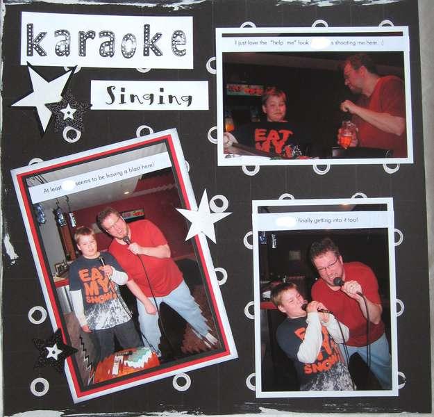 Left page of Karaoke Singing