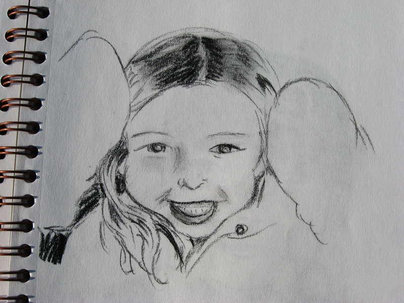 Drawing of Christmas 2006 LO girl